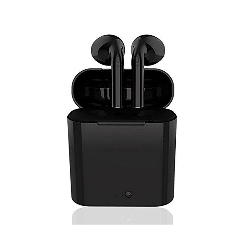 i7s tws bluetooth headsets for iPhone Black
